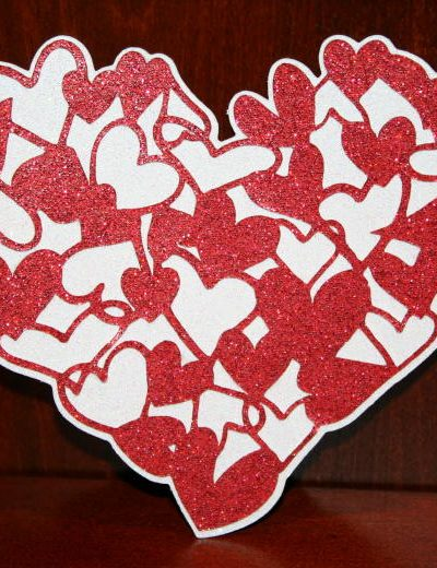 glitter heart
