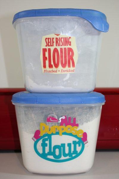 all purpose flour container vinyl