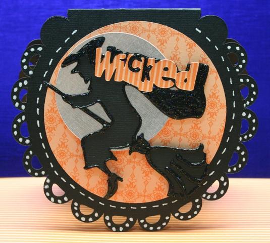 Gypsy designed Wicked Witch Card Cricut & Cricut Lite cartridge