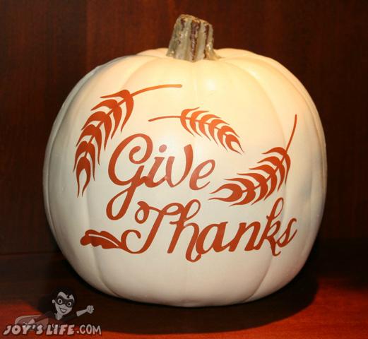 Cricut Thanksgiving Cartridge Vinyl Craft Pumpkin