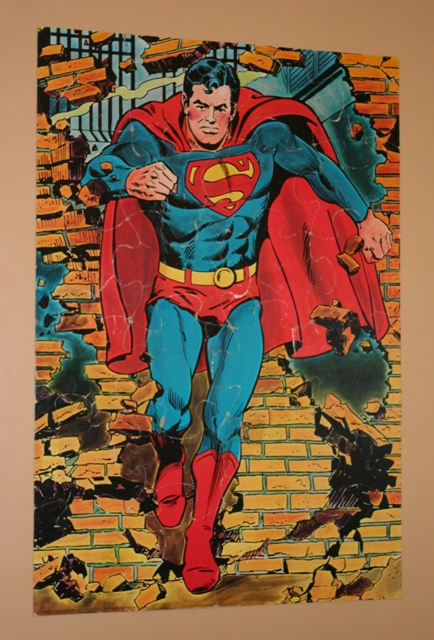 Superman Vintage Puzzle Wall Art with Scotch Restickable Tabs