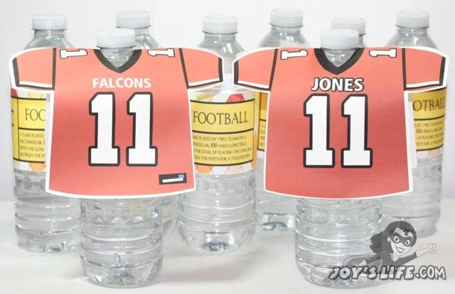 Football Jersey Water Bottles & Labels – Atlanta Falcons – Football Friday