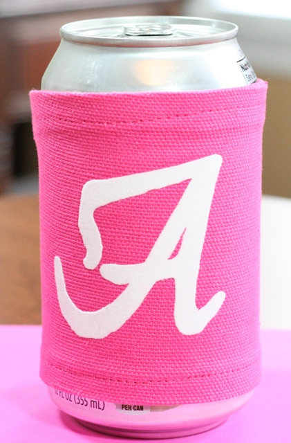 Football Friday – Flocked Iron On Vinyl Cup or Can Cozy