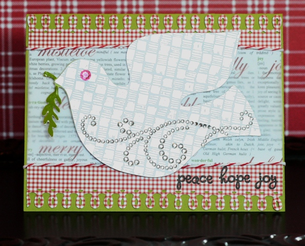 Holiday Cards Blog Hop – Scandinavian Cricut Cartridge Dove Card