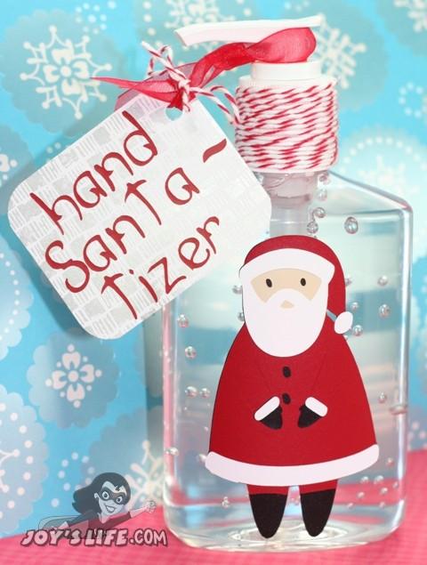 Hand Santa-tizer Vinyl Santa Cricut Scandinavian Christmas