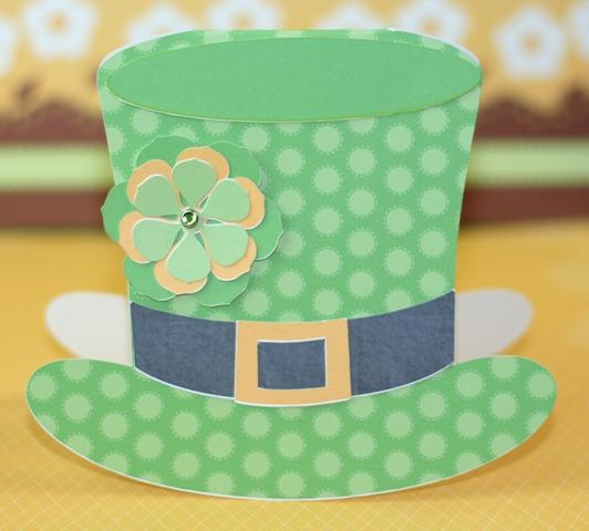 Silhouette Cameo Print & Cut Leprechaun Hat Card
