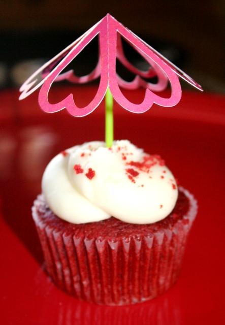 Silhouette Heart Cupcake Topper