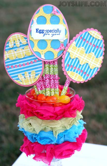 Chipboard Easter Egg Teacher Gift #Easter #Xyron #joyslifestamps #loriwhitlock #chipboard