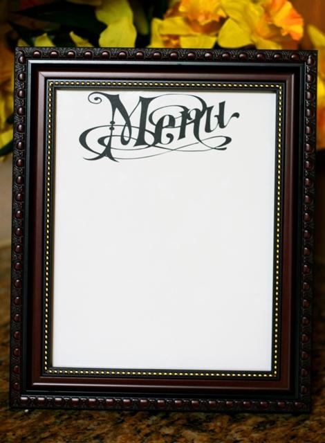 Vinyl Dry Erase Menu Board – Lori Whitlock Design Team Post
