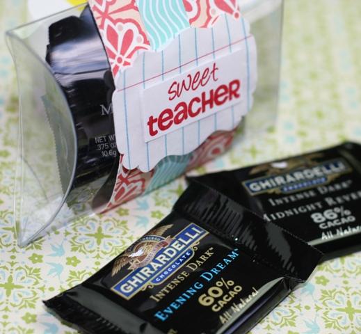 Notebook Paper Design Element in Sweet Teacher Pillow Box