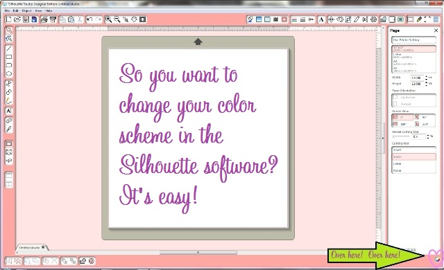 How to Change the Color Theme and Background in Silhouette Software