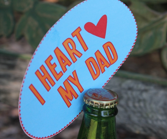 Quick Father's Day Themed Gift Giving with Glue Dots