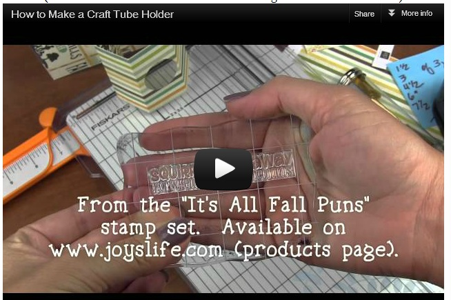 How to Make a Craft Tube Holder VIDEO