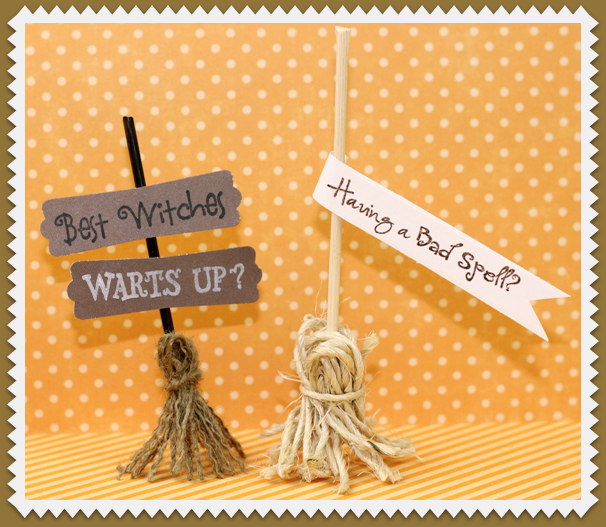 Quick & Easy Witches Broom from Burlap or Twine