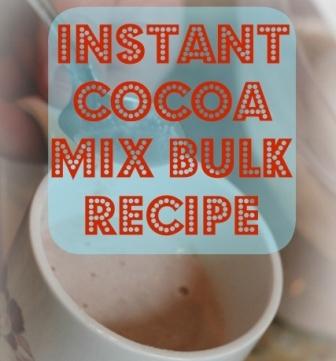 Instant Cocoa Mix Bulk Recipe