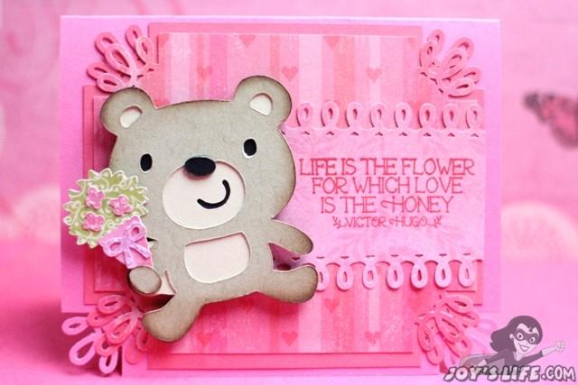 Cricut Create a Critter 2 Bear Valentine