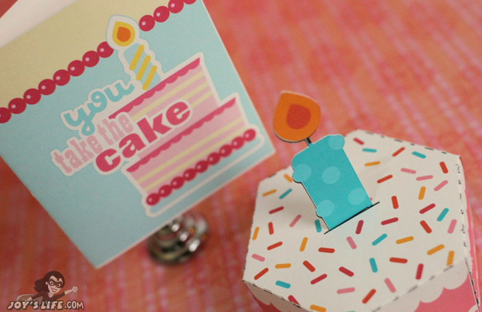 Cupcake Card and 3D Cake – Lettering Delights
