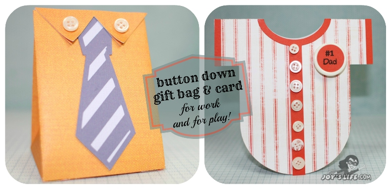 Button Down Gift Bag & Card at www.joyslife.com