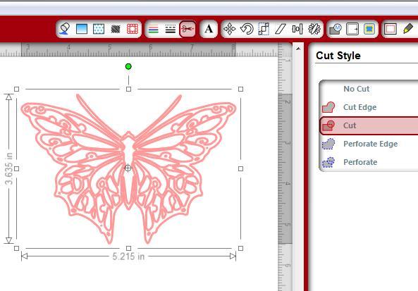 Trace butterfly cut style