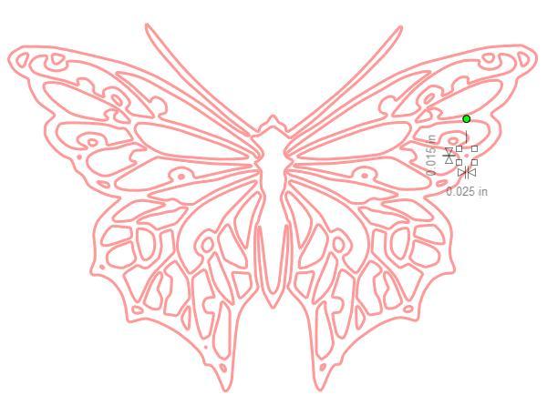 Trace butterfly delete dots
