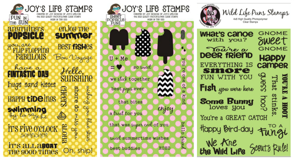 Fun Summer Cards using Joy's Life Stamps