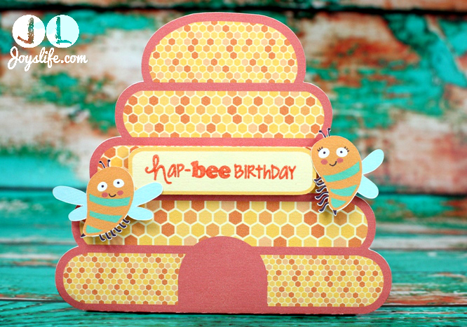 Easy Print Cut Birthday Bee Gift Bag