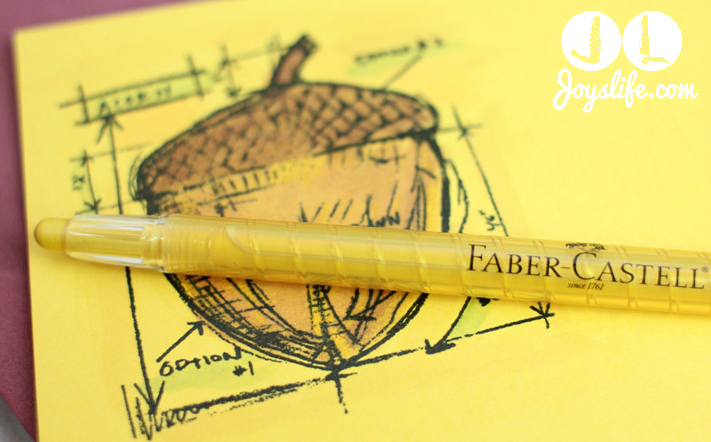 Cork Acorn Fall Decor – Faber Castell Design Memory Craft Team Post