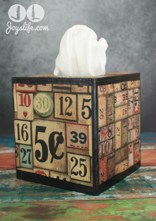Tim Holtz Fabric Mod Podge Tissue Box – All About Fall Blog Hop
