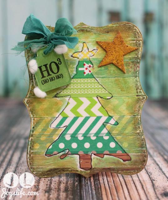 Christmas Tree Tag with Joys Life Stamps #Christmas