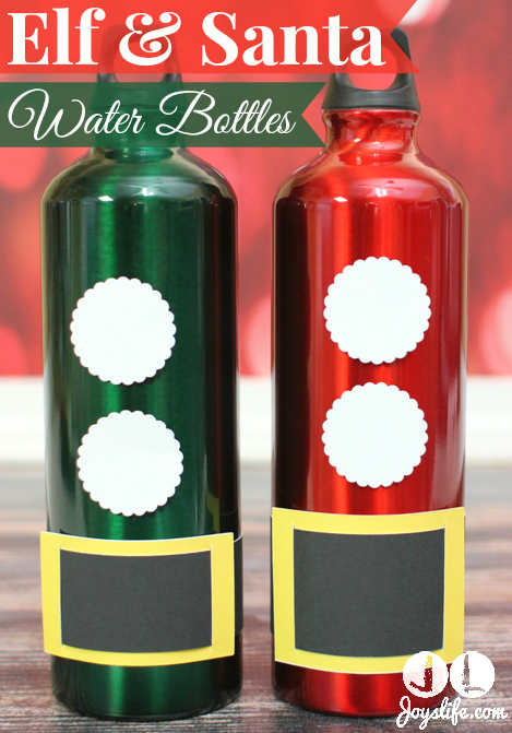 Elf & Santa Water Bottles – Glue Dots Blog Hop