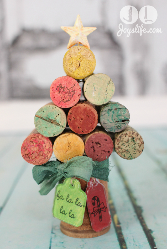 Wine Cork Christmas Tree with Faber Castell