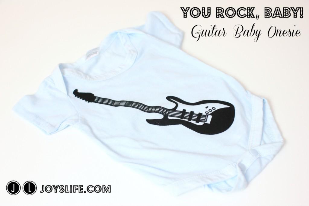You Rock Baby Iron On Guitar Baby Onesie #SEI #Guitar #Baby #Onesie #DIY