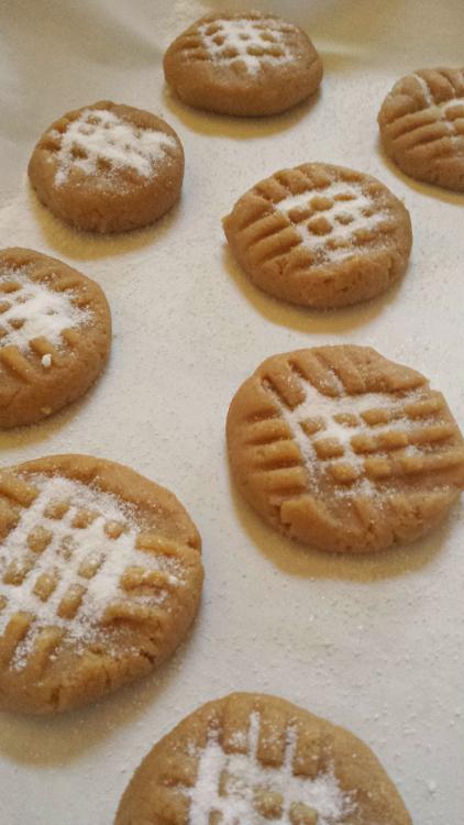 No Flour Peanut Butter #Cookies #Recipe