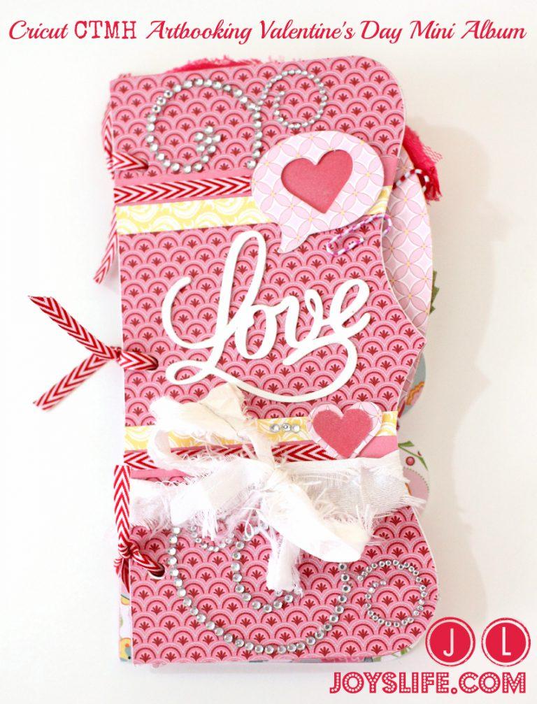 Cricut CTMH Artbooking Valentine's Day Mini Album