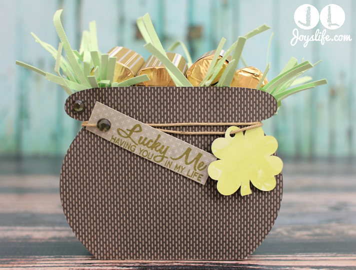 St. Patrick's Day 3D Pot of Gold with Silhouette Cameo