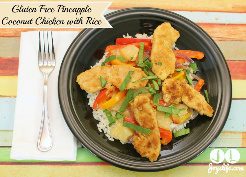 Gluten Free Pineapple Coconut Chicken with Rice