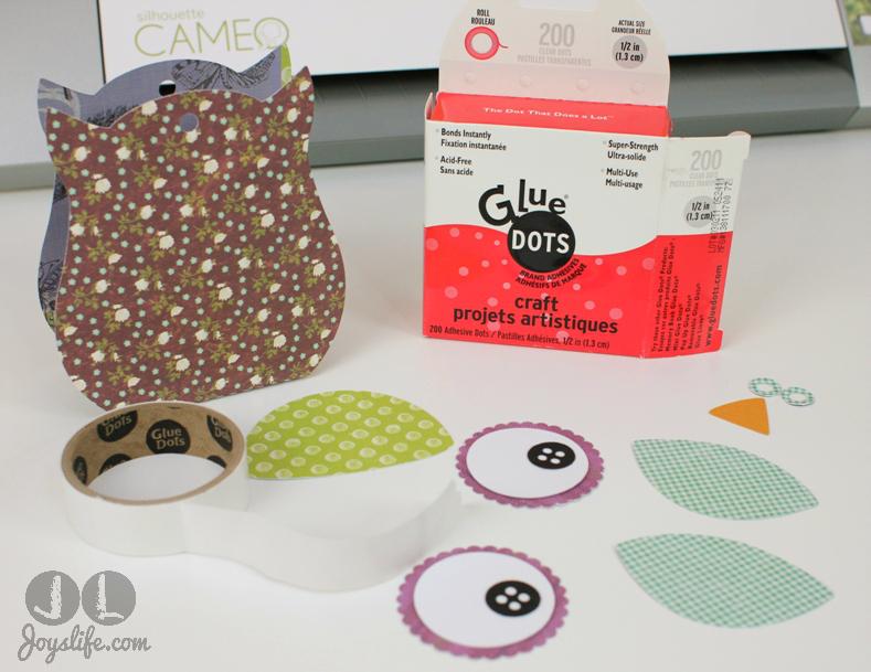 Owl Treat Box with Silhouette Cameo and SEI #SEI #SilhouetteCameo #Owl #3D #LoriWhitlock