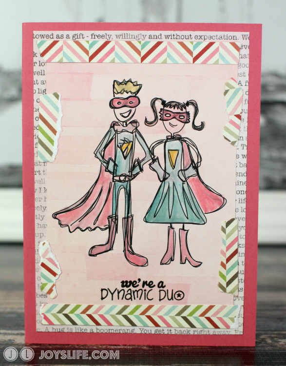 Dynamic Duo Card with Silhouette Sketch Pens