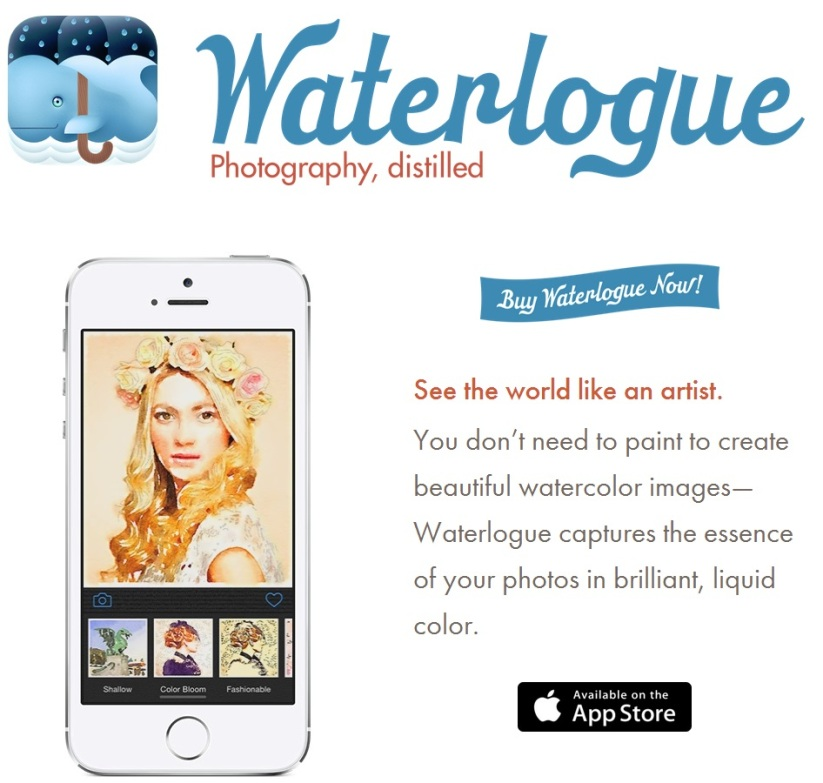 Waterlogue App #Waterlogue #ipad #itues #iphone #ipod