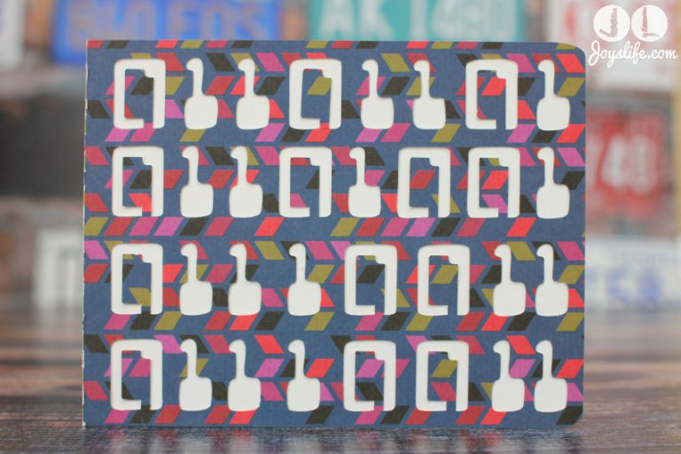 Computer Binary Code Birthday Card with Silhouette Cameo and SEI