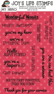 Joy's Life My Hero Stamps from joyslife.com #joyslifestamps