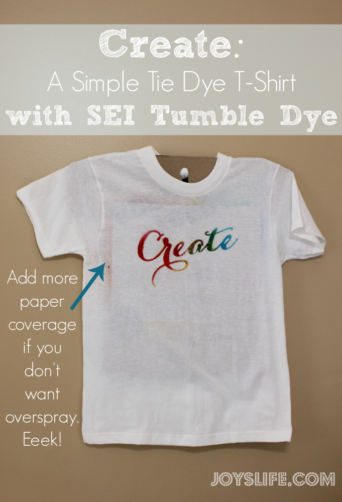 Create: A Simple Tie Dye T-Shirt with SEI Tumble Dye #tiedye #sei #tumbledye #diy #tshirt