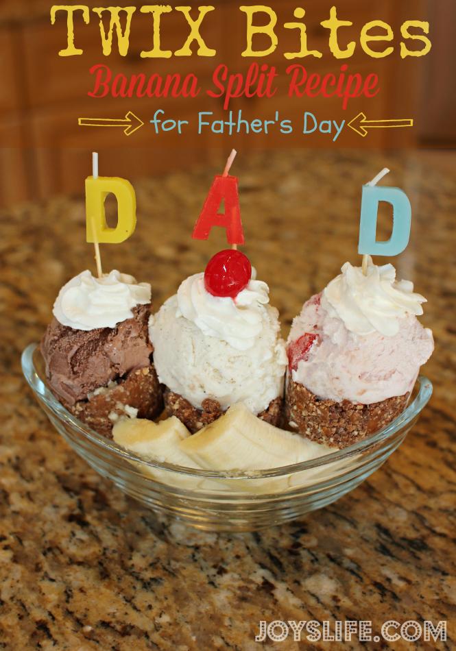 TWIX Bites Banana Split Recipe for Father's Day #EatMoreBites #shop #cbias