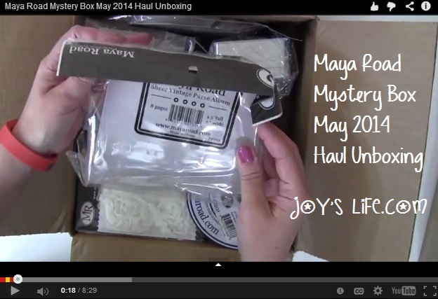 Maya Road Mystery Box May 2014 Haul Unboxing #MayaRoad #MayaRoadMysteryBox #unboxing #crafthaul #haul #joyslife
