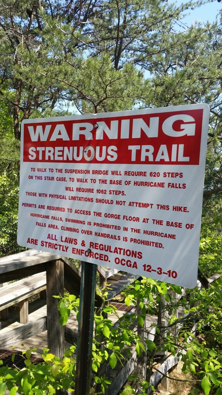 trail warning