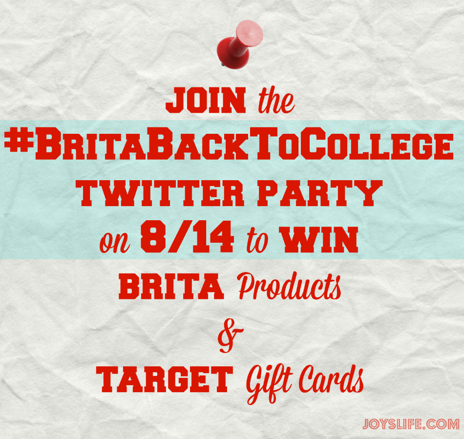 Join the #BritaBackToCollege Twitter Party on 8/14 to Win Brita Products & Target Gift Cards