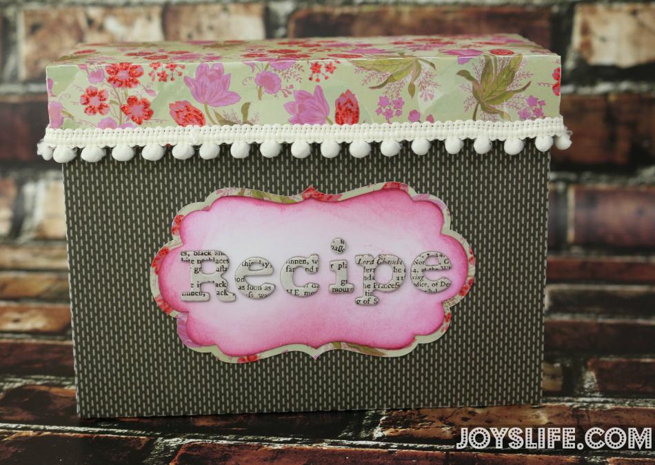 Paper Recipe Box with SEI #SEI #SilhouetteCameo #recipebox