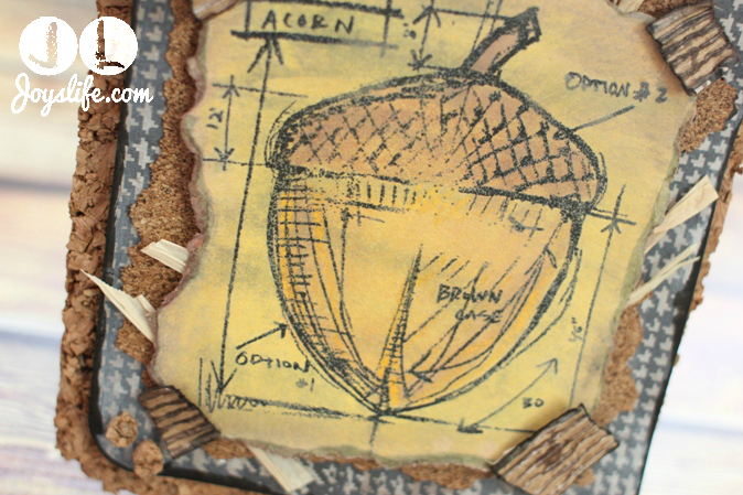 Cork Acorn Fall Decor with Faber Castell #fabercastell #designmemorycraft #timholtz #fall