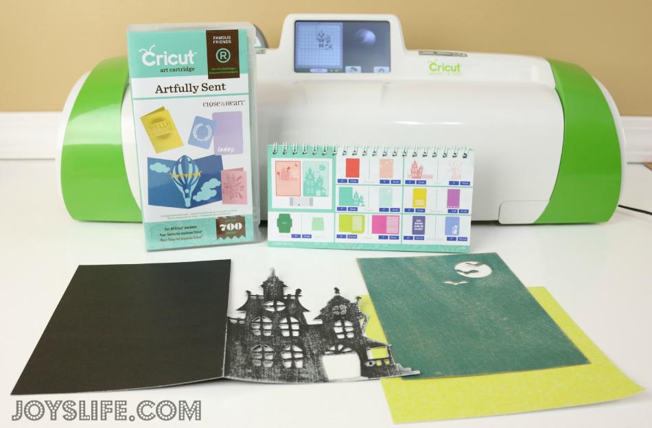 CTMH Cricut Artfully Sent Haunted House Card #Cricut #CTMH #ArtfullySent #Halloween #card