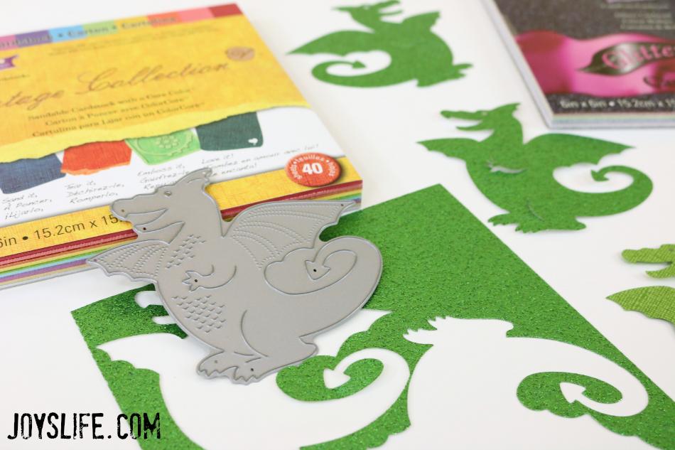 Dragon Bookmark die cut #dragon #metaldie